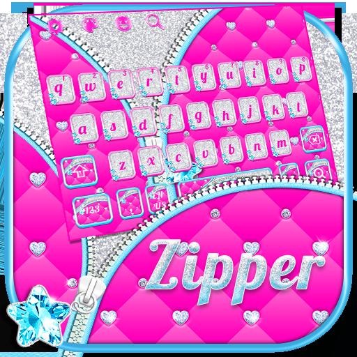 Zipper Glitter Keyboard