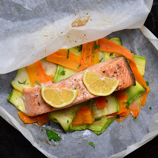 Salmon En Papillote + Julienned Vegetables
