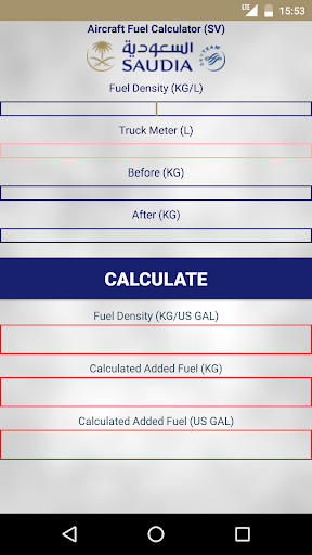 Aircraft Fuel Calculator SV