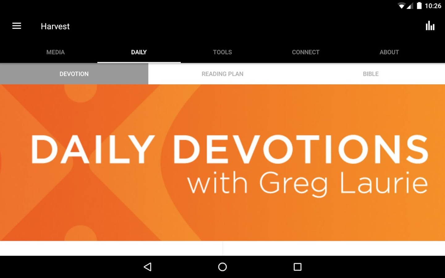 Harvest: Greg Laurie- screenshot
