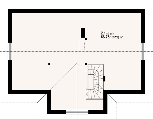 Chmielów m9 - Rzut poddasza