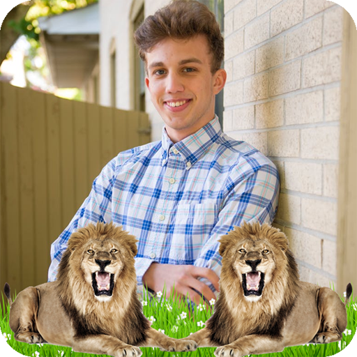 Selfie with Lion Photo Frames