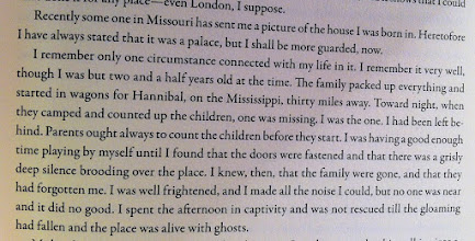 """Photo: 1/6/14 - """"Home Alone,"""" Mark Twain style. From his Autobiography."""