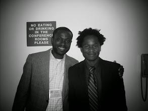 """Photo: Williams Patrick P Jr & Ishmael Beah former child soldier. Author: """"A Long Way"""""""