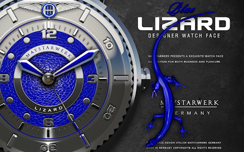 Blue Lizard Watch Face Screenshot