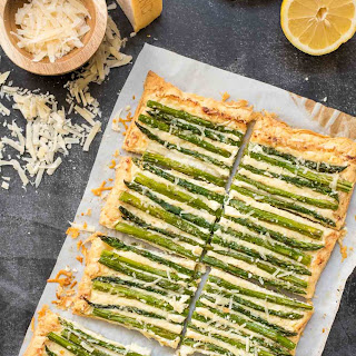 Parmesan and Asparagus Tart