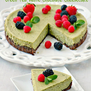 Green Tea White Chocolate Cheesecake.