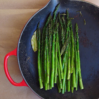 Braised Asparagus with Rosemary