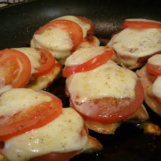 Chicken with Pesto and Mozzarella.