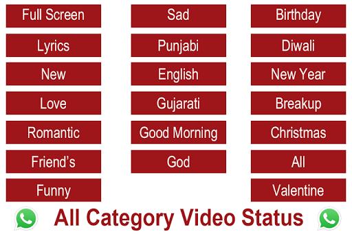 Video Status: Full Screen VideoStatus For WhatsApp 1.2.0 screenshots 1