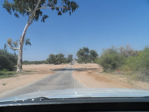 Photo: Dry riverbed on the road back to Wojaale