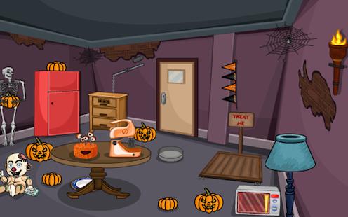 3d escape puzzle halloween room 1 screenshot thumbnail - Halloween Room