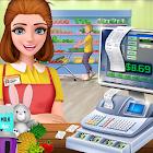 Preto supermercado Sexta-feira: jogo menina caixa icon