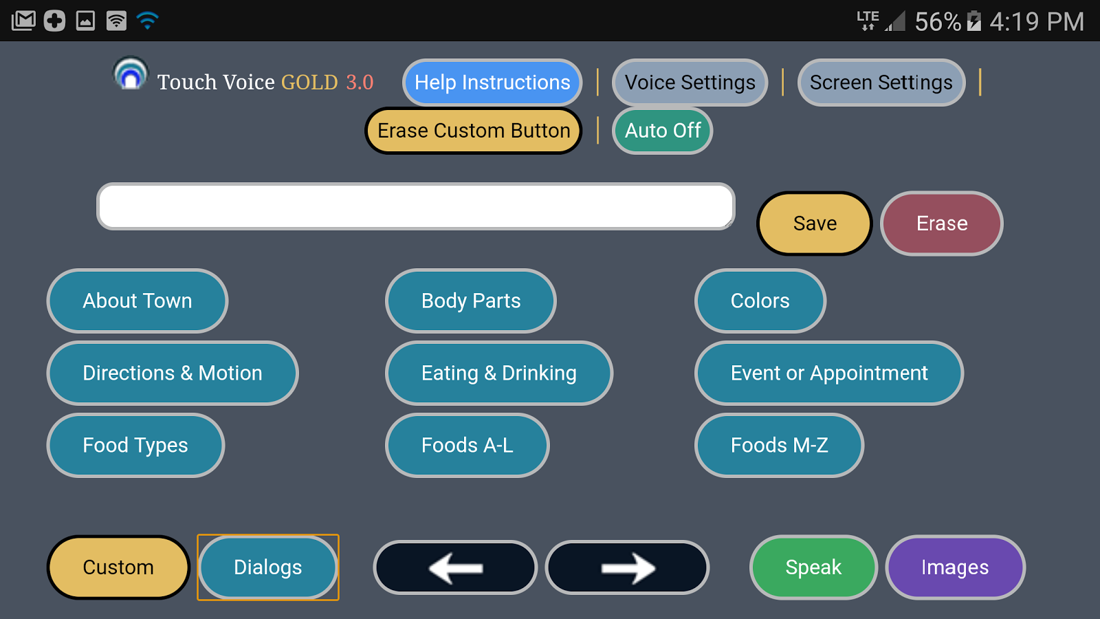 Touch Voice Gold- screenshot