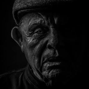 The Miner  by Michael Fallon - Black & White Portraits & People ( profoto canon portrait black and white,  )