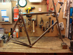 Photo: Well, I skipped photoing a couple steps, but here's the finished frame and fork.