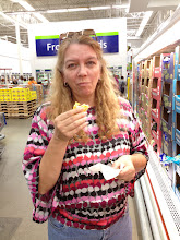 Photo: We love getting to try all the samples Sam's offers. The cheese was really good, hubby just doesn't know how to take a good photo.