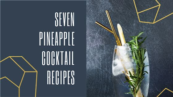 Pineapple Cocktail Recipes - YouTube Thumbnail Template
