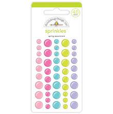 Doodlebug Sprinkles Adhesive Enamel Dots 45/Pkg - Spring Assortment