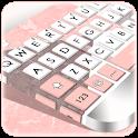 Geometric Coral Pink Keyboard Theme icon