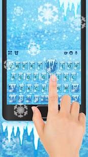 Cool Ice Keyboard Theme - náhled