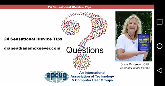 iDevice Tips by APCUG conference