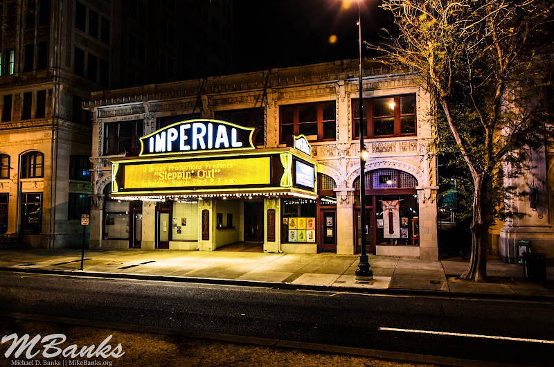 "Photo: ""The Imperial Theatre...""  I am overall satisfied with the shot that I got. I did some post-processing in Lightroom, but no ""Radical"" changes."