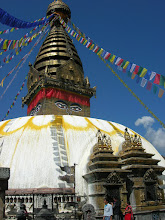 Photo: The beautiful Swayambhunath on top of a hill in the Kathmandu valley (Monkey Temple)
