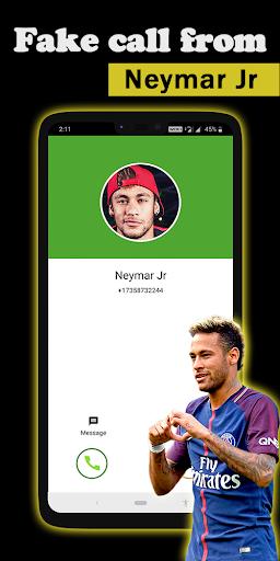 Fake call Neymar Jr 1.1 screenshots 1