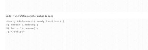 Ligne HTML pour landing page