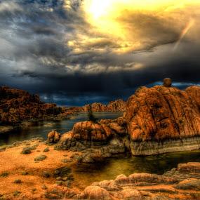 Monsoon storm by Bob Murray - Landscapes Sunsets & Sunrises