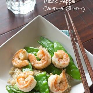 Black Pepper Caramel Shrimp