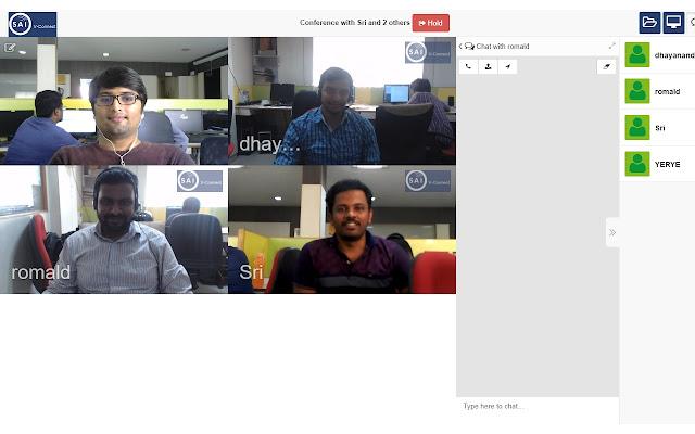 SAI V-Connect screen sharing