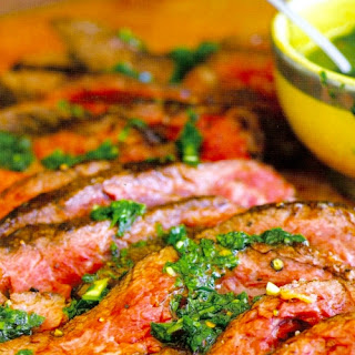 Steak with Parsley Sauce.