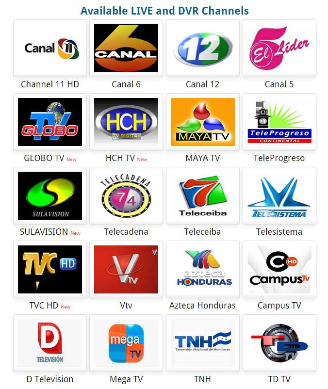 HonduTV for Google TV- screenshot