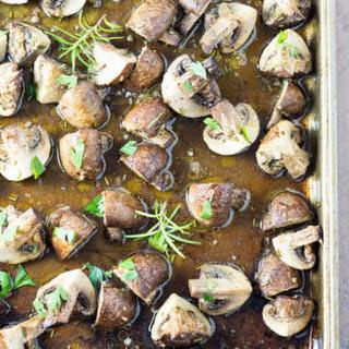 Roasted Rosemary Garlic Mushrooms