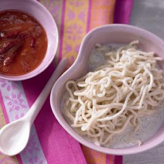 Vanilla Noodles with Plum Puree