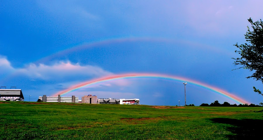 Double  Rainbow by Randell Whitworth - Landscapes Weather ( pride, hdr, nc, charlotte, storms, rainbow, pretty )