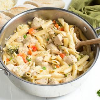 Creamy Chicken Vegetable Pasta Recipes.