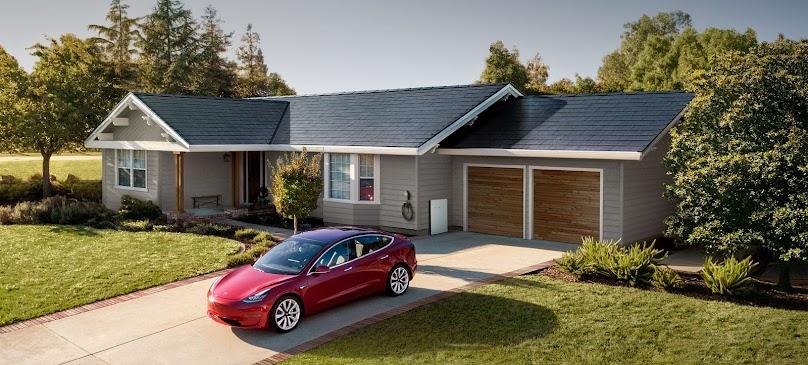 Dachówki solarne na dachu - projekt