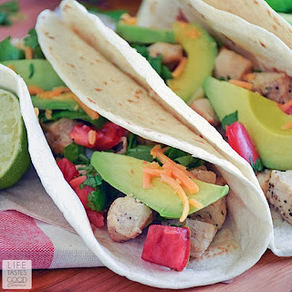 Cinco de Mayo Lime Chicken Soft Tacos with Cilantro Lime Rice