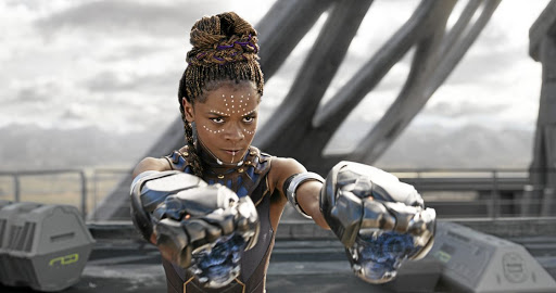 Shuri (Letitia Wright) is pictured in a scene from Black Panther. The move to make her character the focal point of the upcoming sequel is welcomed by the writer.