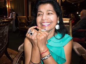 Photo: Manju and major her bling