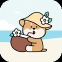 [AB] 해변의 시바 - 카카오톡 테마 icon