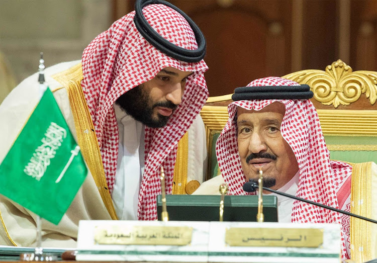 Crown Prince Mohammad bin Salman and his father King Salman in 2018. Picture: ANADOLU AGENCY/BLOOMBERG