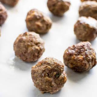 Make-Ahead Italian Meatballs.