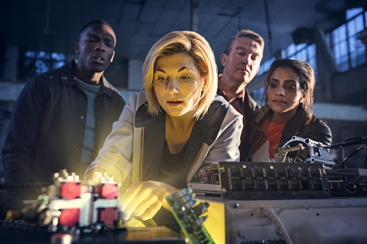 Bradley Walsh, Jodie Whittaker, Tosin Cole and Mandip Gill in 'Doctor Who' season 11.