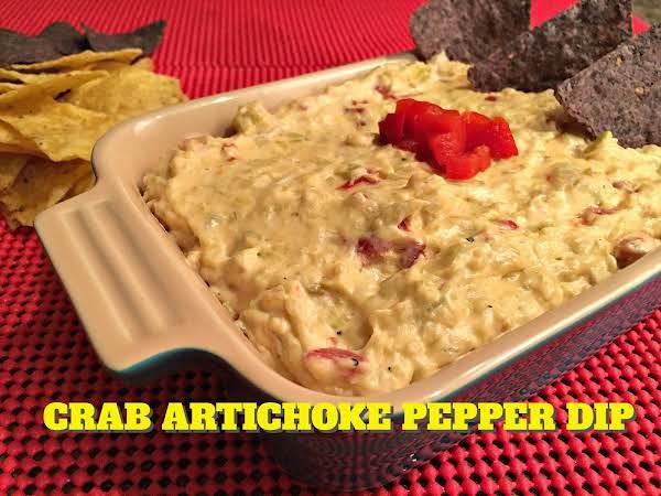 Crab Artichoke Pepper Dip Recipe