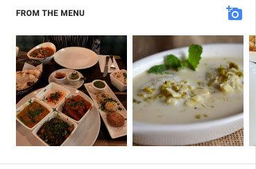 google my business for restaurants menu images