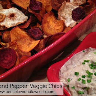 Salt and Pepper Vegetable Chips – (Low-Carb, Paleo, Gluten-Free, Whole 30).